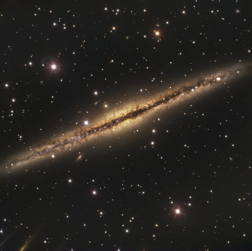 Edge on spiral galaxy NGC 891